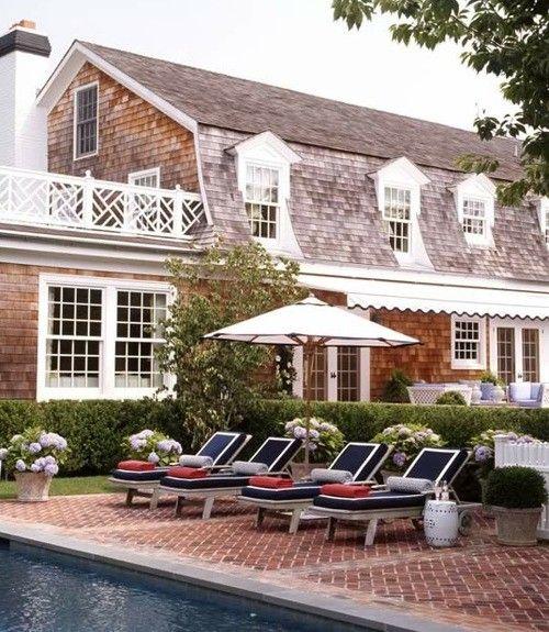 love it: Beach House, Exterior, Dream House, Brick Patio, Backyard, Garden, Pools