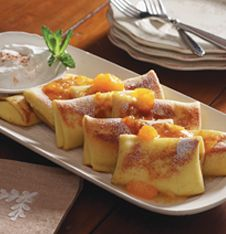 Cheese Blintzes with Apricot Sauce: Simply Crepes, Crepe Dish Now, Sauce Recipes, Sweet Treats, Crepe Dish Dominopin2Win, Sugar Recipes