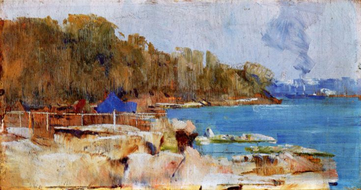 oil painting of landscape by Arthur Streeton