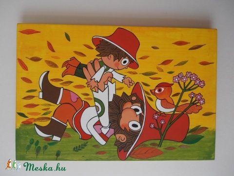 Meska - Gyerek fali táblakép Kiokumitsu kézművestől