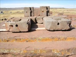 The Ruins of Puma Punku in Tiahuanaco