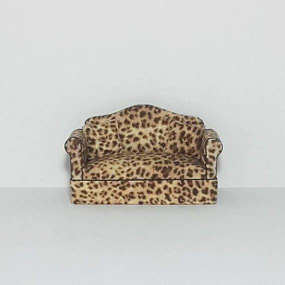 Miniature Sofa  LEOPARD PRINT  Includes Shipping