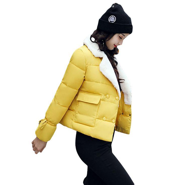 >> Click to Buy << Winter Jacket Women Fashion Solid Color White Fleece Collar Long Sleeve Womens Parka Coats Warm Long Sleeve Warm Jackets #Affiliate