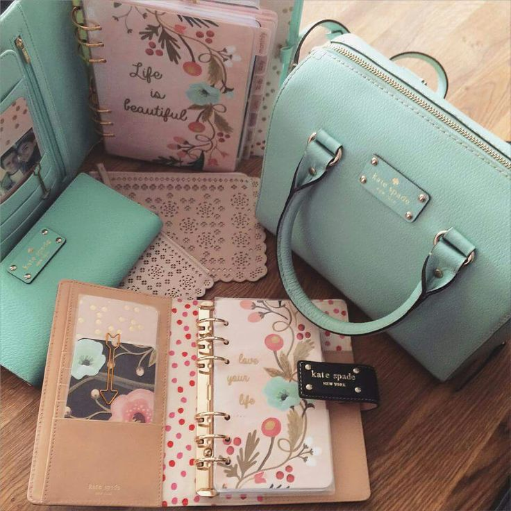 Stationery, Planner, Pencils And Matching Bag... Kate Spade New York Clothing, Shoes & Jewelry : Women : Handbags & Wallets : Women's Handbags & Wallets hhttp://amzn.to/2lIKw3n
