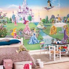 Ταπετσαρία τοίχου παιδική Πριγκίπισες Κάστρο PRINCESS DISNEY 368x254cm