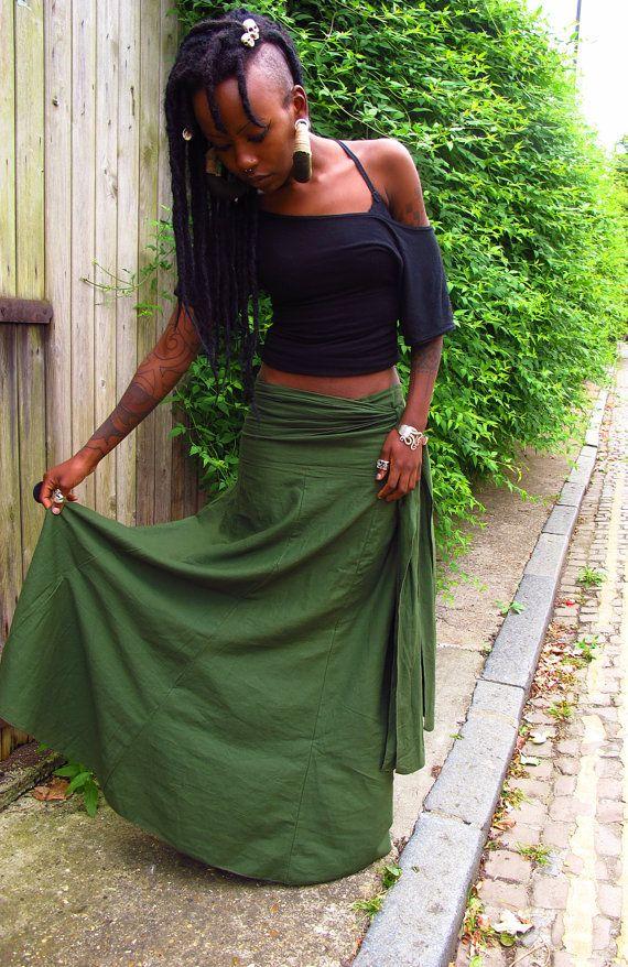 Anahata  OOAK Bohemian ruched draped skirt by manakahandmade, £42.00  I need this!