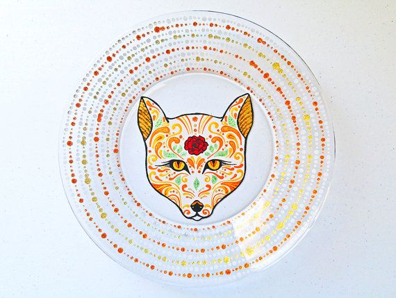 Fox Gifts Fox Decor Fox Art Fox Plate Fox Home Decor Fox Wall Art Decorative Plate Fox Dinnerware Gifts For Fox Lovers