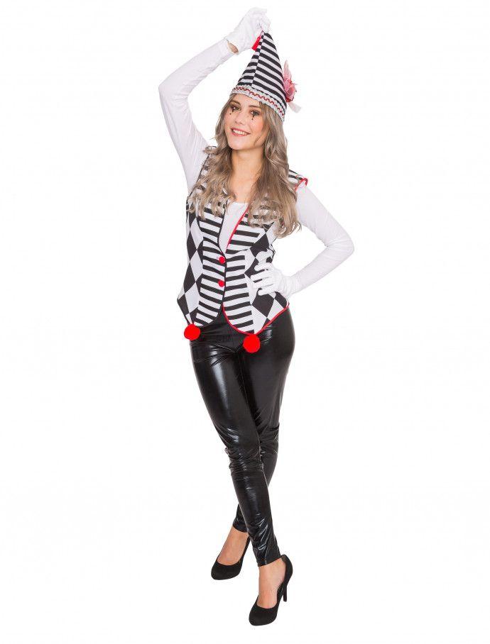 Weste Pantomime deluxe Damen HIER kaufen » Deiters  pantomime  clown   schwarz  weiß 8c3b8deea6a81