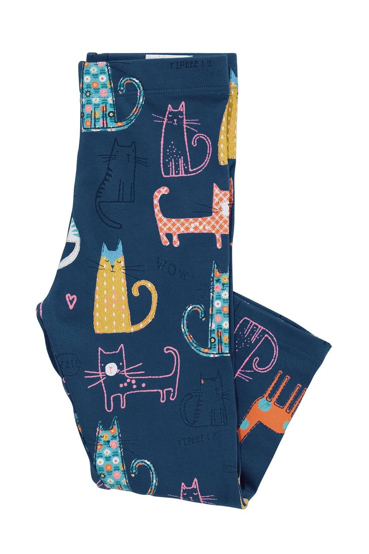 Buy Navy Cat Print Leggings (3mths-6yrs) from the Next UK online shop