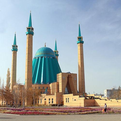 Mashkhur Jusup Central Mosque in Pavlodar, Kazakhstan.
