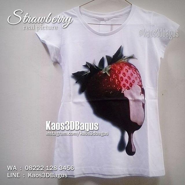 STRAWBERRY, Kaos STRAWBERRY, Kaos3D, Kaos Gambar Stroberi, Hadiah Ulang Tahun Cewek, Kaos3DBagus, WA : 08222 128 3456, LINE : Kaos3DBagus, https://www.facebook.com/kaos3dbagus #fashion #female #strawberry #fruit #juice
