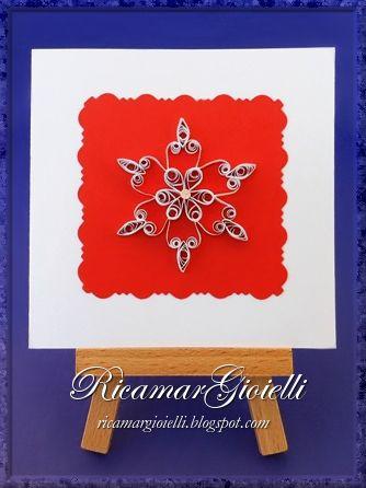Biglietto con Fiocco di Neve in quilling - Ricamar Gioielli