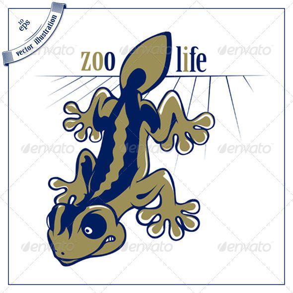 Cartoon Lizard Salamander - Animals Characters