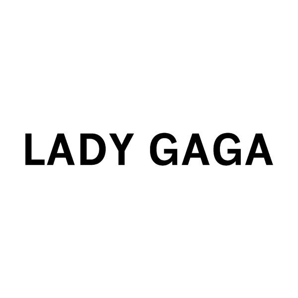 Lady Gaga Logo ❤ liked on Polyvore featuring lady gaga, text, quotes, words, backgrounds, fillers, phrase and saying