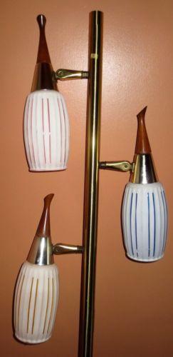 Great Vintage Retro Midcentury Modern Danish Era Clover Tension Pole Lamp Nice