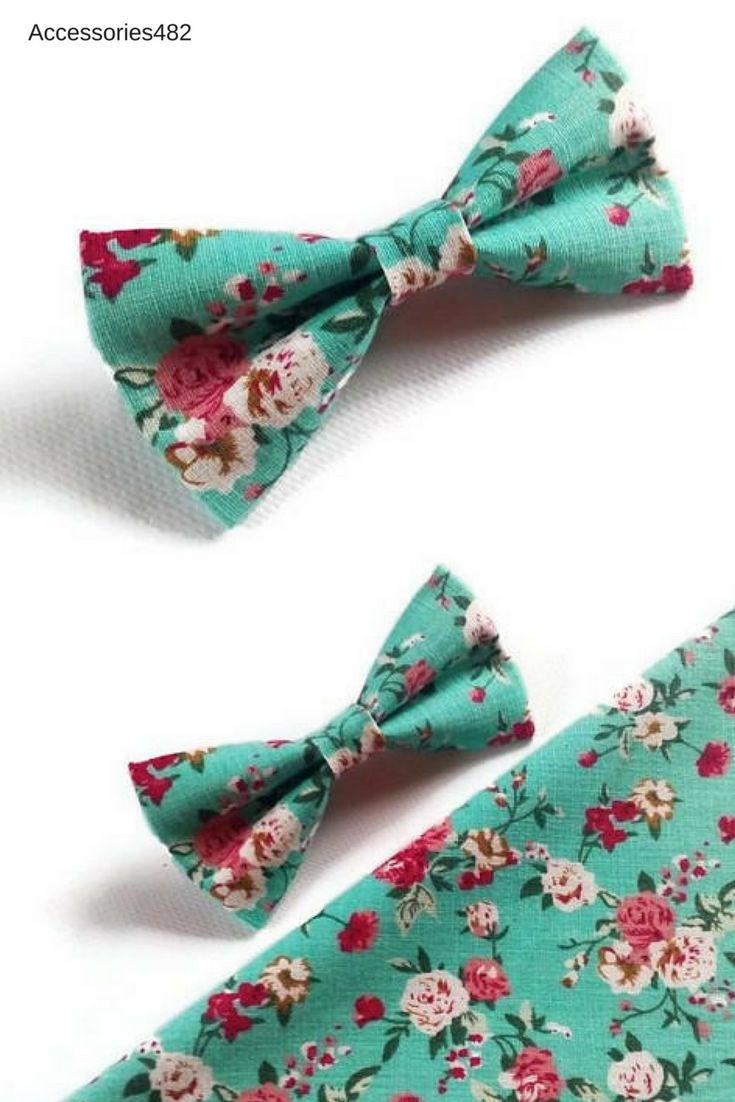 $9.28+ Mint green floral wedding bow tie groomsmen colour groom for men Guys Groomsmen attire Groom outfit Style Bridal parties Mens fashion Baby boy  #mint_wedding #groomsmen #groom