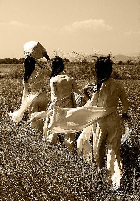 """dixie-rose-au-paradis:  """"Ao Dai"""" Vietnamese traditional dress…..Song Mao, Viet…"""