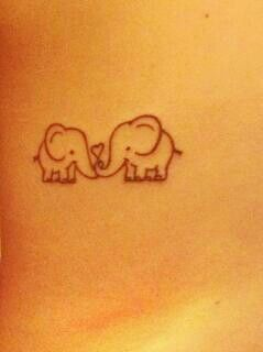 big elephant and little elephant... big sis and little sis? @Hannah Mestel Mestel Freden :) on our ribs