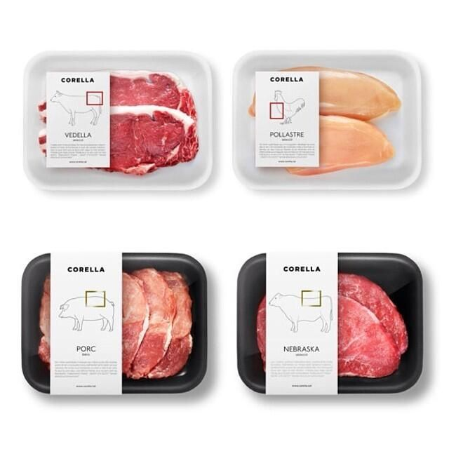 Great #packaging for meat, from a carnicería in Barcelona.PD
