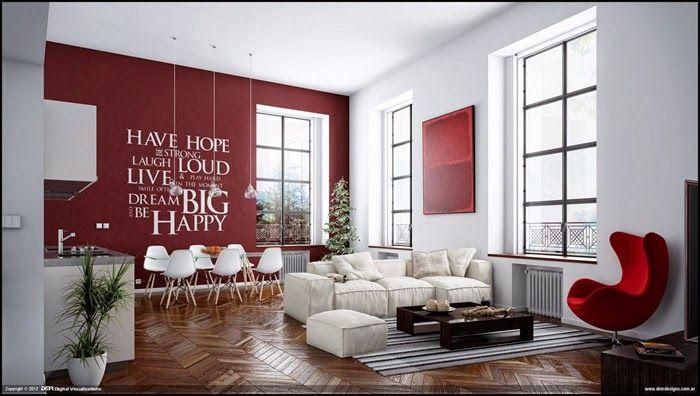 Как и в минимализме, здесь акцент делается на открытое пространство. Делите мебель на группы для того, чтобы зонировать большую комнату.
