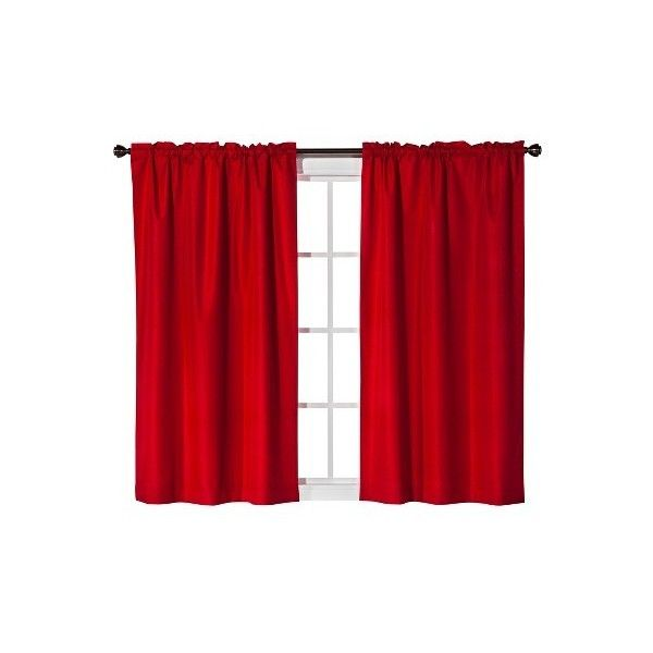Room Essentials Solid 2pk Curtain Panel, Red ($14) ❤ Liked On Polyvore  Featuring Home, Home Decor, Window Treatments, Curtains, Target Curtains,  Red ...