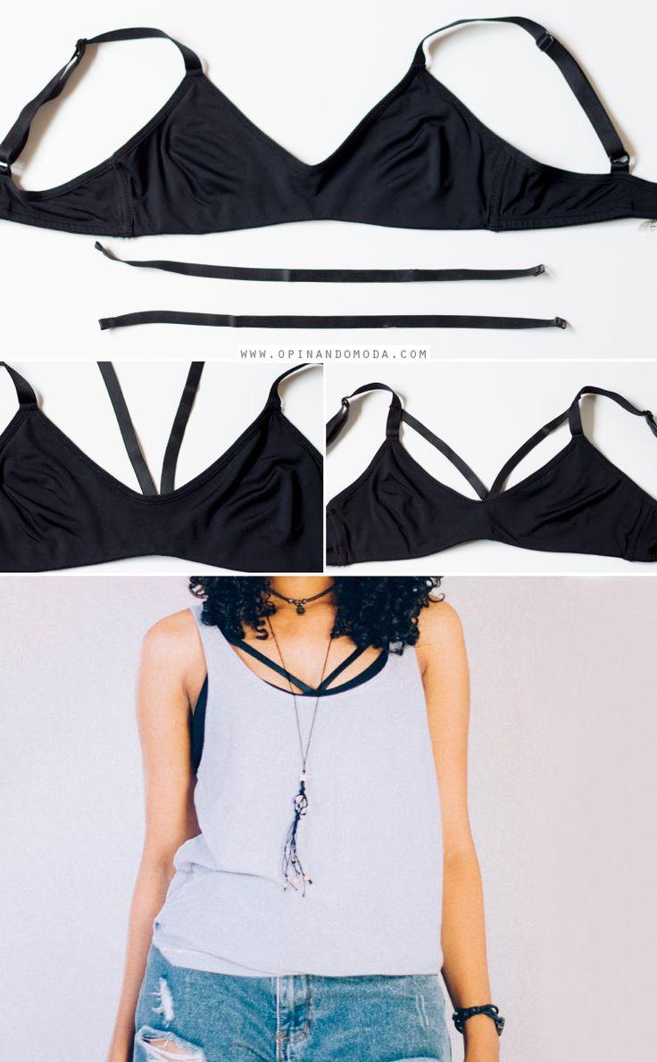 Opinando Moda: DIY - Strappy bra (sutiã ou top com tiras)
