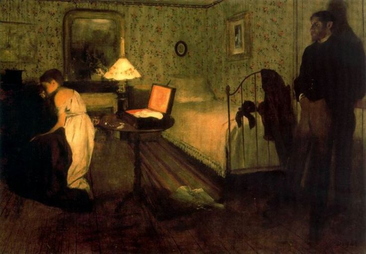 La violación (1869) Edgar Degas