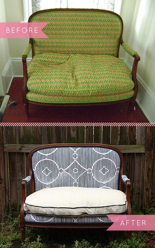 Before & After: A Textile Designer Gives An Old Sofa A New Life | Design*Sponge