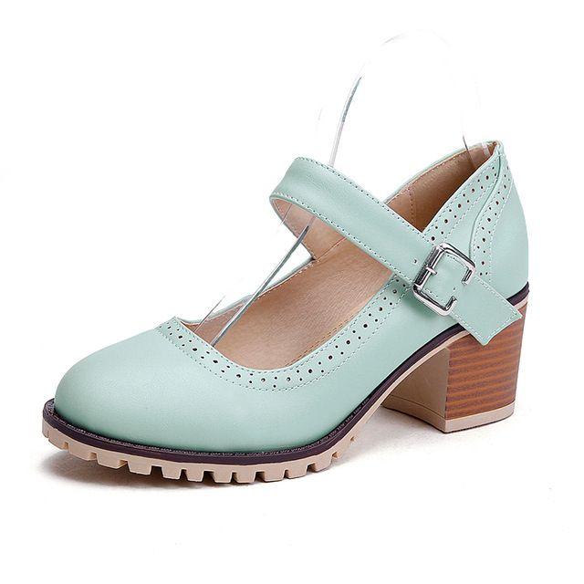 2016 Caliente Rosa Confortables 3 Colores Mary Janes Zapatos de Tacón Alto Del Dedo Del Pie Puntiagudo zapatos de San Valentín Dulce Zapatos Femeninos Del Verano