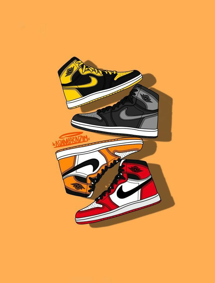 Rapnoid96 I Will Draw Couple Portrait Illustration From Photo For 10 On Fiverr Com Sneakers Wallpaper Nike Wallpaper Jordan Shoes Wallpaper