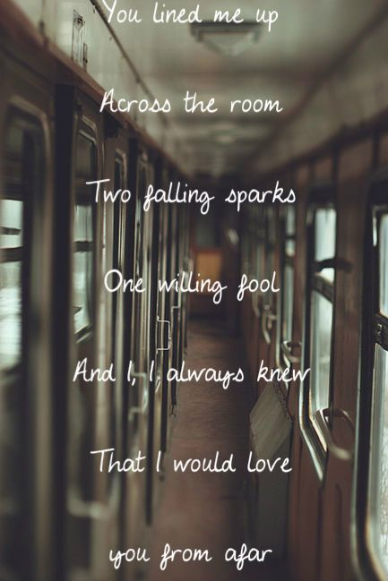 I've spent most of this summer listening to this song... From Afar - Vance Joy