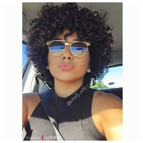 Curls in my Sunshine! Credit: @actually_ashly #curlkalon #curlsessions - curly crochet braids