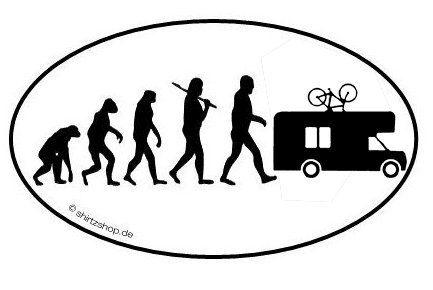 caravan camper wohnmobil evolution aufkleber autoaufkleber. Black Bedroom Furniture Sets. Home Design Ideas