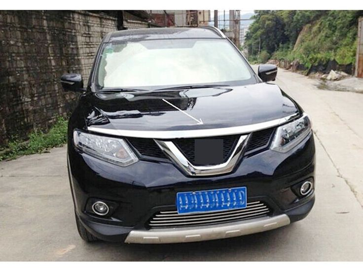 Abs chrome front hood cover trim 3pcs for nissan rogue x