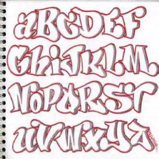 bubble lettering