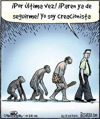 @.. ¡Por última vez! ¡Paren ya de seguirme! Yo soy creacionista.