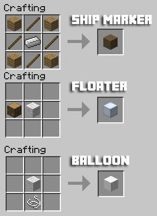 The neat part of this mod is that the ship can be any size so long as the ship marker block is attached. Description from minecraftmods.com. I searched for this on bing.com/images