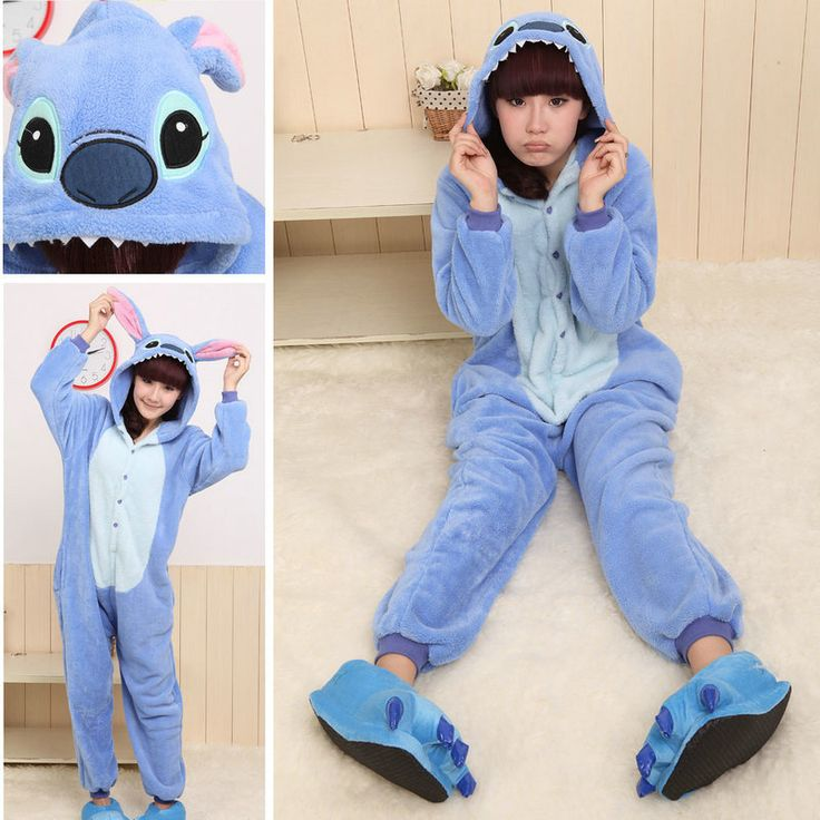 PajamasBuy - Onesies Hoodie Blue Stitch Pajamas Animal Costume Kigurumi, $23.50 (http://www.pajamasbuy.com/products/onesies-hoodie-blue-stitch-pajamas-animal-costume-kigurumi-christmas.html)