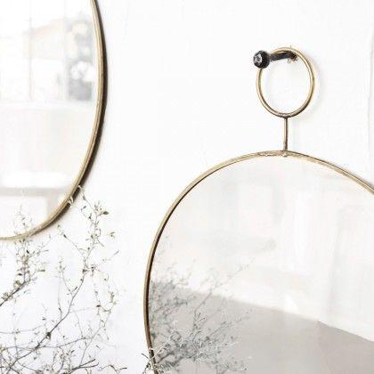 Large Brass Loop Mirror by House Doctor DK
