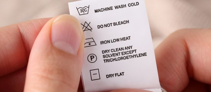 Wash care symbols. Laundry care
