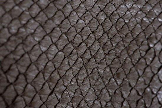 Fish leather : salmon (antique metal finish)