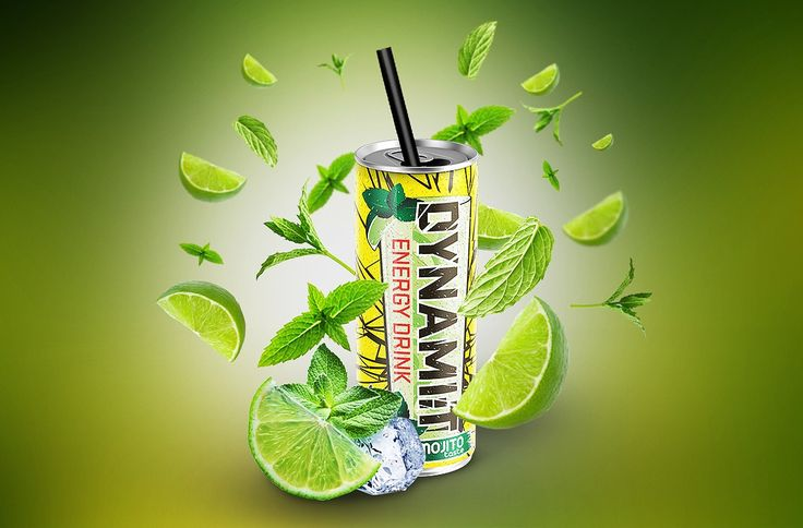 Packaging design & Branding services – DYNAMI:T MOJITO Energy Drink Packaging Design