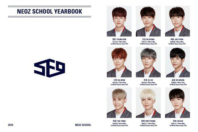 SF9 smile in fitted-uniform photos from their graduation 'Yearbook'…