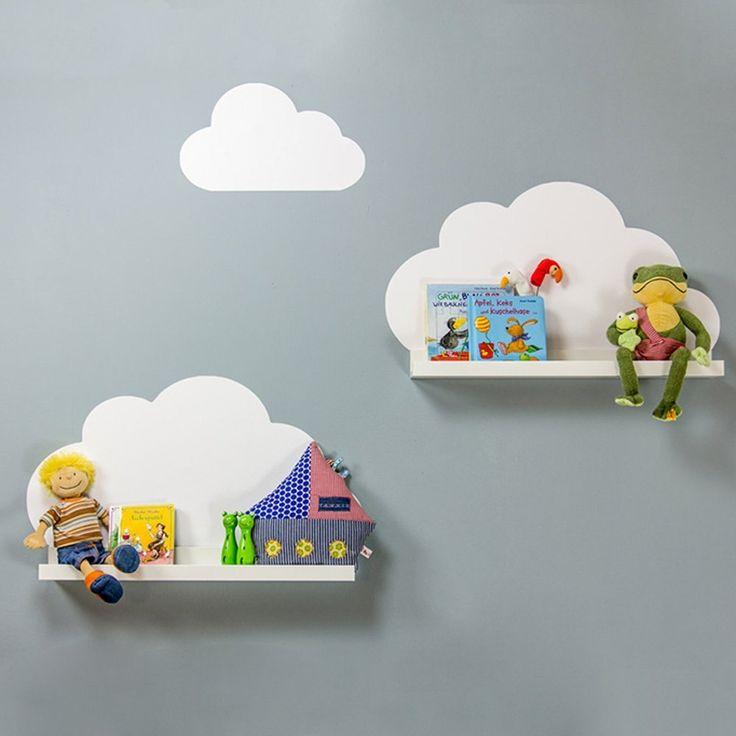 Wandtattoo Wolken passend für deine IKEA Ribba / Mosslanda / Mosslanda Bilderleisten (Farbe Weiß) - Babyzimmer Kinderregale: Amazon.de: Spielzeug