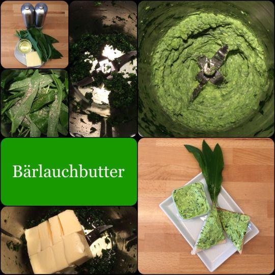 Grüne Woche : *** Streichfähige Bärlauchbutter *** schnell gemacht, würzig und lecker
