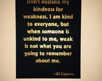 Al Capone Quote Typed on Typewriter by WhiteCellarDoor on Etsy