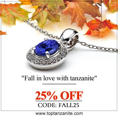 Oval #TanzanitePendants With Diamonds in 14k White Gold. Get 25% OFF Use Code #FALL25