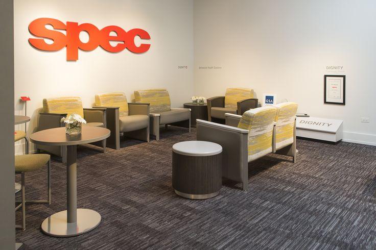 Spec Furniture Showroom, Behavioural Health Corner: Dignity, Dignity2 | #NeoCon16