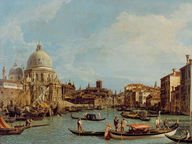L'ingresso del Canal Grande con la Basilica della Salute ...