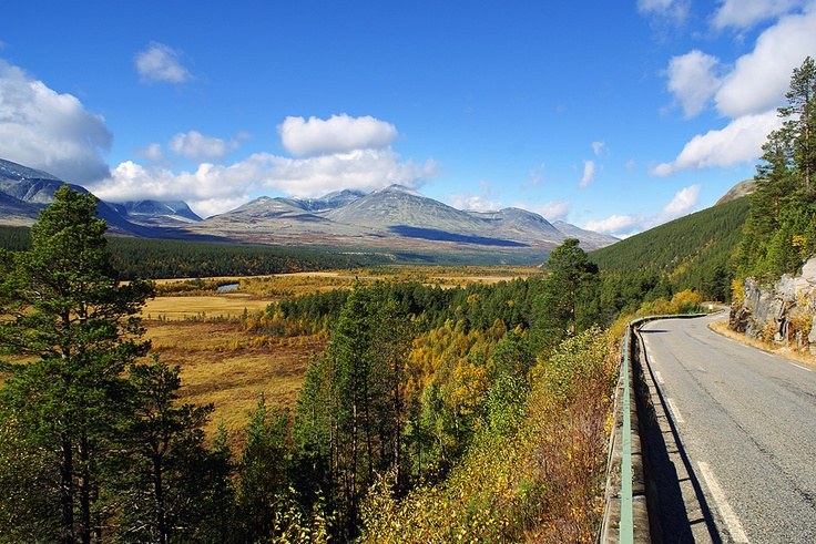 driving along the Atna valley Sollia, Stor-Elvdal, Hedmark, NORWAY Rondane